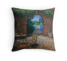 The Secret Courtyard, Amalfi, Italy. Throw Pillow