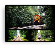 Riding the rails Canvas Print