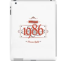 Since 1986 (Red&Black) iPad Case/Skin