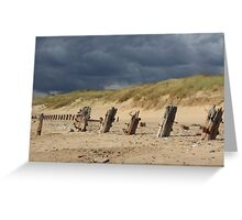 Weathered remains, Spurn Point Greeting Card
