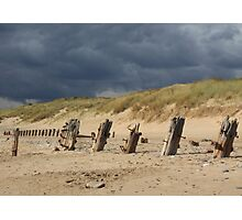 Weathered remains, Spurn Point Photographic Print