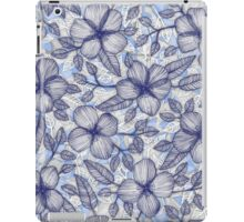 Indigo Summer - a hand drawn floral pattern iPad Case/Skin