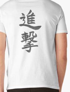 """Shingeki (Attack)"" from Shingeki no kyojin(Attack on Titan) Mens V-Neck T-Shirt"