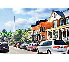 Bench Street, Galena Illinois Photographic Print