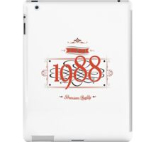 Since 1988 (Red&Black) iPad Case/Skin