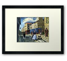 THE WOODEN DOLLY Framed Print