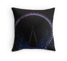London Eye by Night Throw Pillow