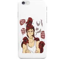 Deadpool play with Logan iPhone Case/Skin