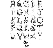 monster alphabet Photographic Print