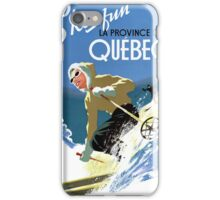 Quebec Canada Vintage Travel Poster Restored iPhone Case/Skin