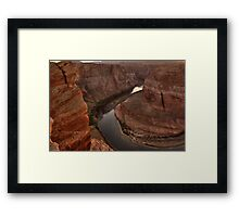 Late Afternoon At Horsehoe Bend - 2 ©  Framed Print
