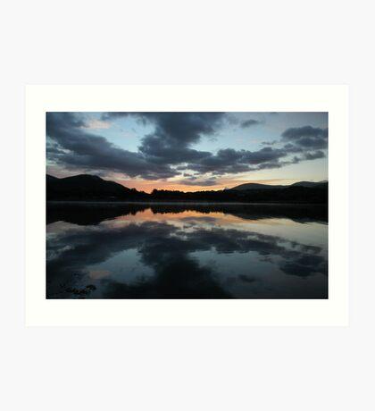 Mirror Morning - lake district Art Print