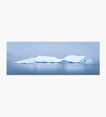 Penguin Approaches Ice Berg Photographic Print