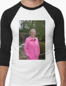 Carol Kirkwood BBC Weather presenter Men's Baseball ¾ T-Shirt