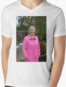 Carol Kirkwood BBC Weather presenter Mens V-Neck T-Shirt