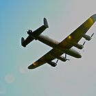 Lancaster into sun by Andicurrie