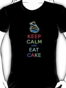 Keep Calm and Eat Cake - on white T-Shirt