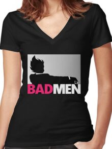 Bad men Women's Fitted V-Neck T-Shirt
