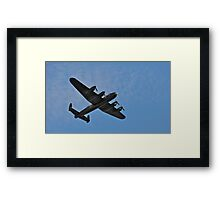 Lancaster Bomber fly over Framed Print