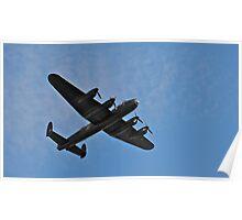 Lancaster Bomber fly over Poster