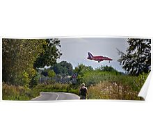 Red Arrow coming into land Poster