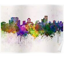 Columbia skyline in watercolor background Poster