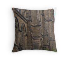 Newbury Street Church Close Up Throw Pillow