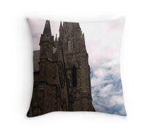 Newbury Street Church Steeple Close Up Throw Pillow