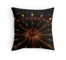 Old Orchard Beach Ferris Wheel Throw Pillow