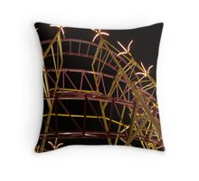 Old Orchard Beach Roller Coaster Throw Pillow