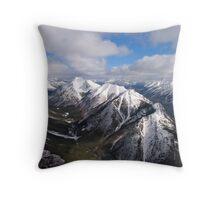 Rockie Mountains, Mount Athabasca Throw Pillow