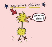 Original Inquisitive Chicken color T shirt One Piece - Short Sleeve