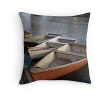 Ogunquit, ME Row Boats Throw Pillow