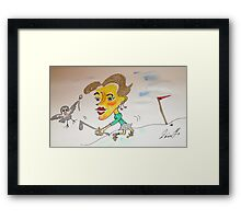 That's not the kind of Birdie that I wanted........ Framed Print