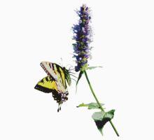 Tiger Swallowtail on Purple Salvia T-Shirt