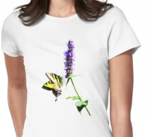 Tiger Swallowtail on Purple Salvia Womens Fitted T-Shirt