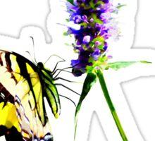 Tiger Swallowtail on Purple Salvia Sticker