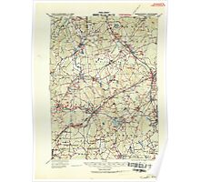 Massachusetts  USGS Historical Topo Map MA Franklin 352680 1919 62500 Poster