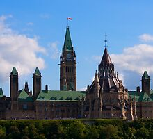 Parliament - Central Block, Ottawa by Josef Pittner