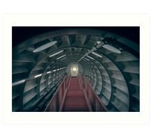Red stairs Art Print