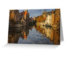 Reflections of Bruges Greeting Card