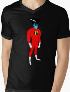 F! Superhero Mens V-Neck T-Shirt