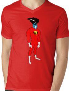 F! Superhero Mens V-Neck T-Shirt