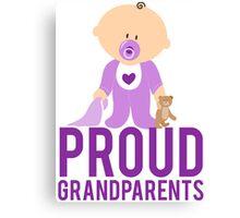 Proud Grandparents New Baby Grandma Grandpa Canvas Print
