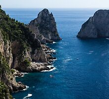 Limestone Cliffs and Seastacks - a Capri Island Vacation by Georgia Mizuleva