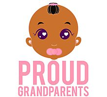 Proud Grandparents New Baby Grandma Grandpa Photographic Print