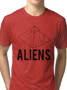 Aliens Ancient Monuments Evidence Tri-blend T-Shirt