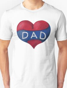 Love Heart Dad Unisex T-Shirt