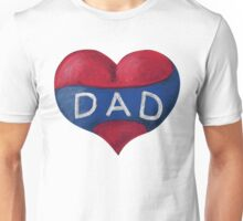 Love Heart Dad Unisex T-Shirt