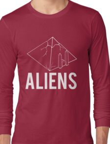 Aliens Ancient Monuments Evidence Long Sleeve T-Shirt